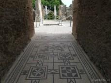 A mosaic in a ruin in Pompeii