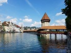 Kapellbrücke (chapel bridge) in Lucerne
