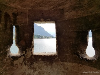 View from a tower of Château de Chillon.