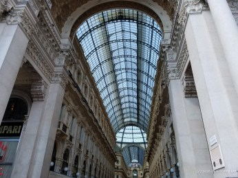 A view of the glass ceiling at the Galleria Vittorio Emanuele II, in Milan
