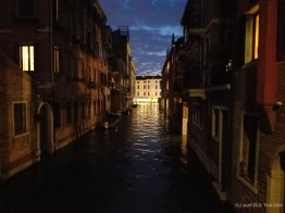 A Venice canal at night