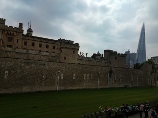 Tower of London with the Shard in the distance