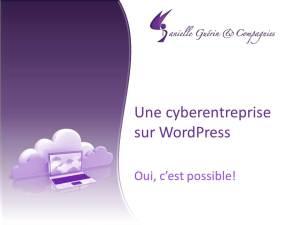 cyberentreprise sur WordPress