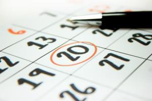 Dia marcado en el calendario