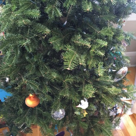 The tree at the END of the holidays..