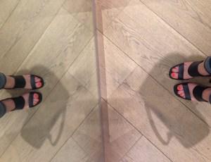 dune shoes single soled sandles gold heel