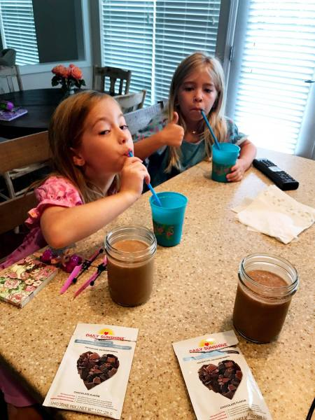 daily sunshine nutrition smoothie for kids