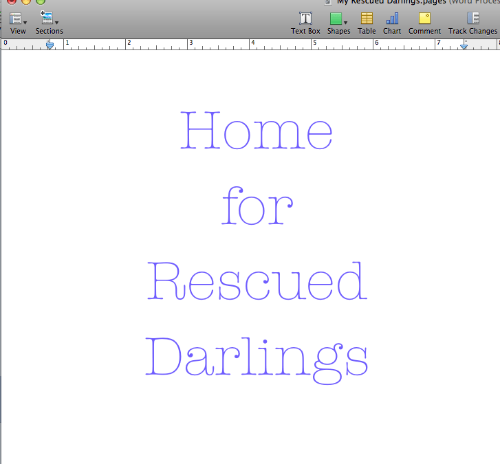 Writers Corner: Rescue Your Darlings