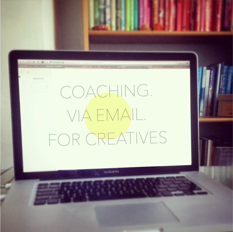 benefits email coaching for creatives laptop image