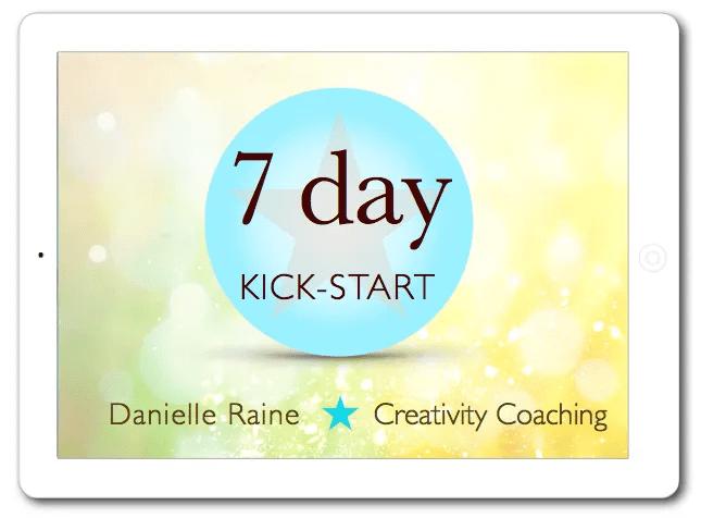 7 day kickstart week of 1:1 creativity coaching via email