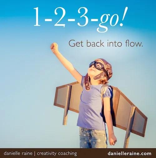123 go month of creativity coaching via email danielle raine