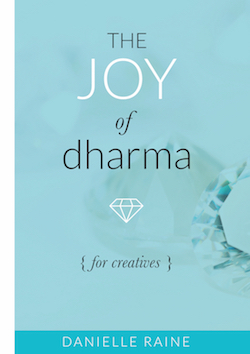The joy of dharma for creatives danielle raine ebook cover side