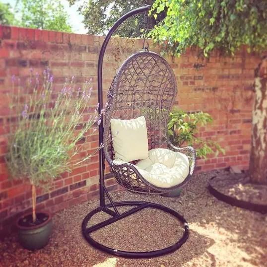 wicker garden swing chair