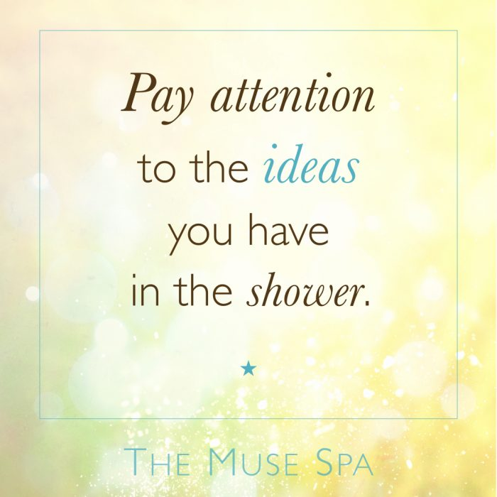 pay attention to the ideas you have in the shower muse spa quote