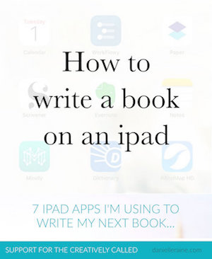 how to write a book on an ipad writing apps