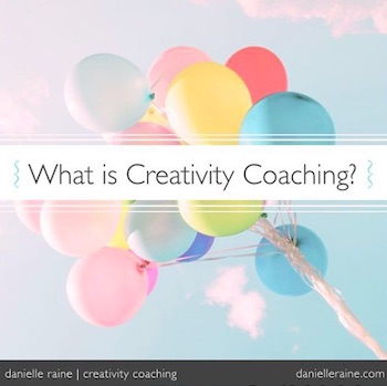 what is creativity coaching colour balloons image