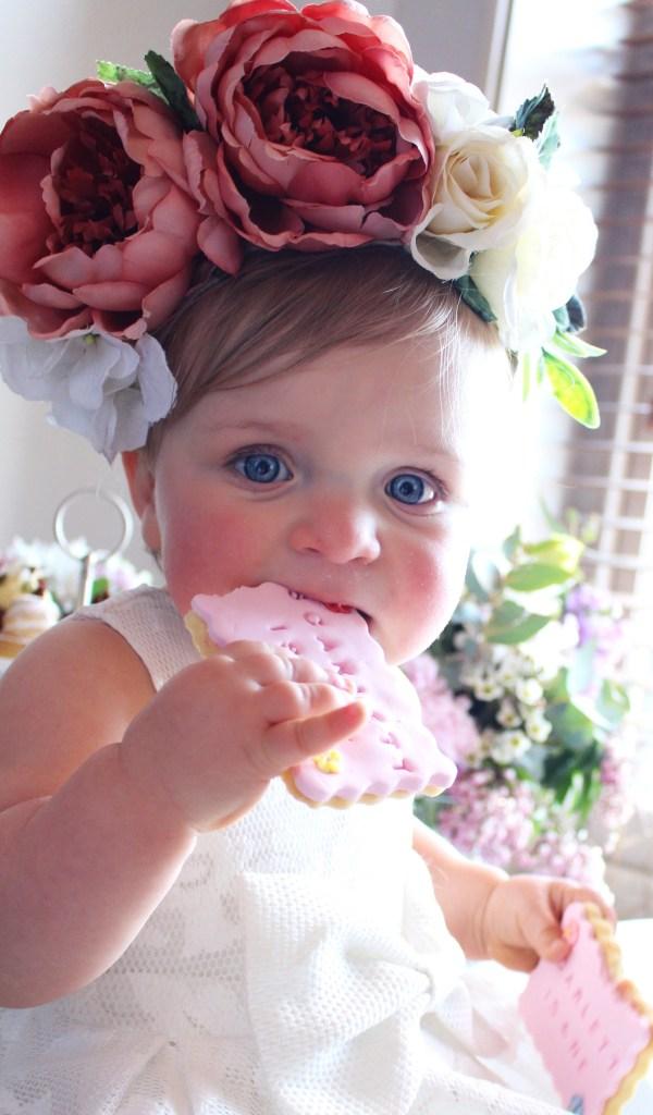 first birthday party best sugar cookies flower headpiece baby girl party bardot junior