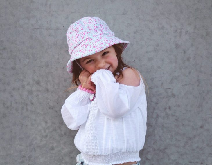 3b3abcdef6fc Outfit details Scarlett // Zara top – Gaia Organic Cotton cream frill  leggings – Roberto Cavalli sandals – Bedhead Hats girls baby bucket hat  daisy