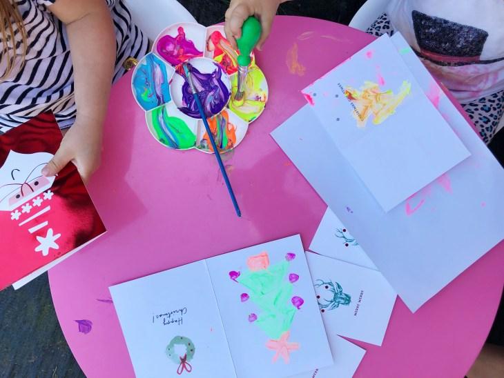 write a christmas card hallmark australia melbourne lifestyle blogger children painting creative christmas play