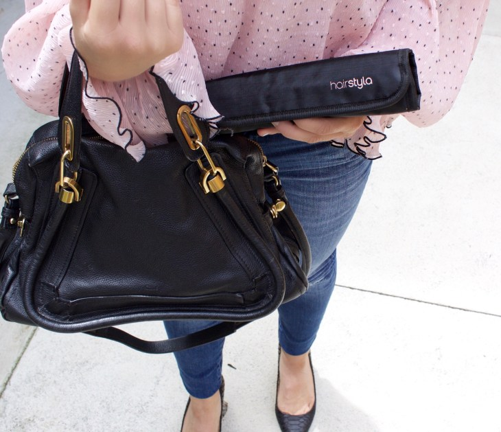 hairstyla move beauty blogger melbourne danielle vella lifestyle blog alice mccall australian fashion hairstyle straight chloe party handbag black
