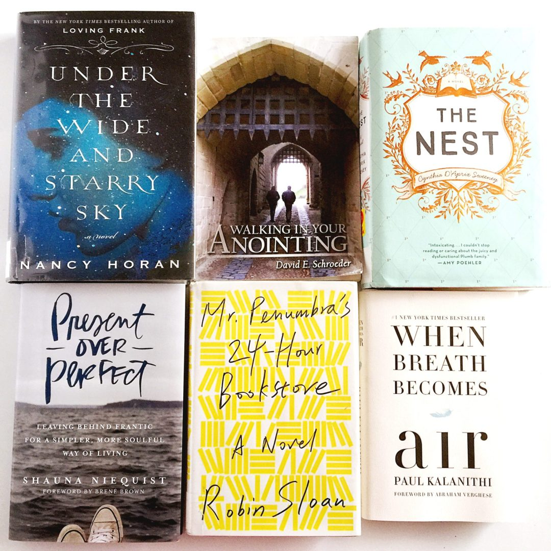 Reading at least one book per week was a big part of my new year's goals! Here's the first six boos of 2016!