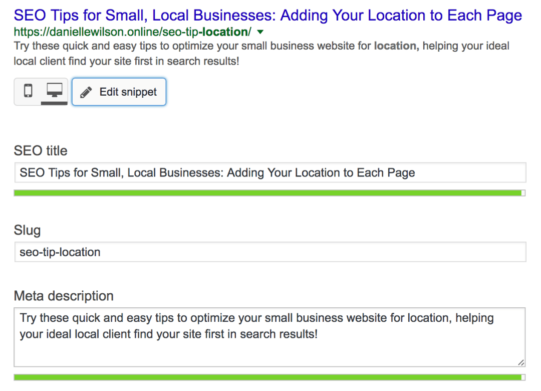 help your ideal client find your local small business through optimizing your site with location keywords