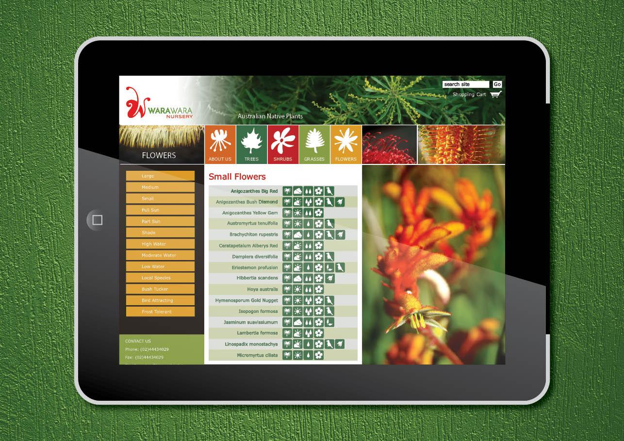 Website graphics for WaraWara Nursery
