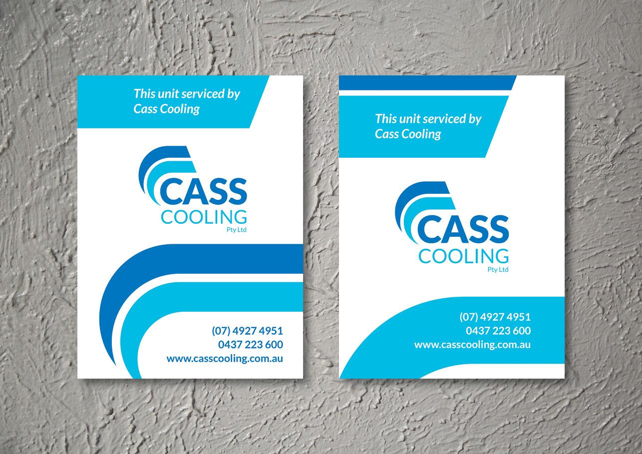 Cass Cooling sticker design for advertising