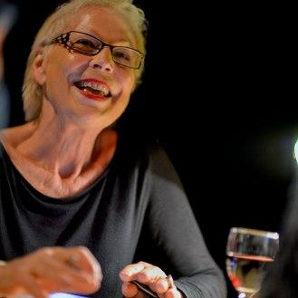 Lydie Salvayre au Chapiteaux du livre. Scène de Bayssan. Béziers