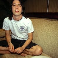 Dave Grohl backstage Rock in Rio