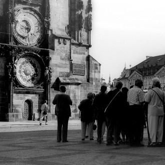 L'horloge astronomique de Prague en Tchécoslovaquie
