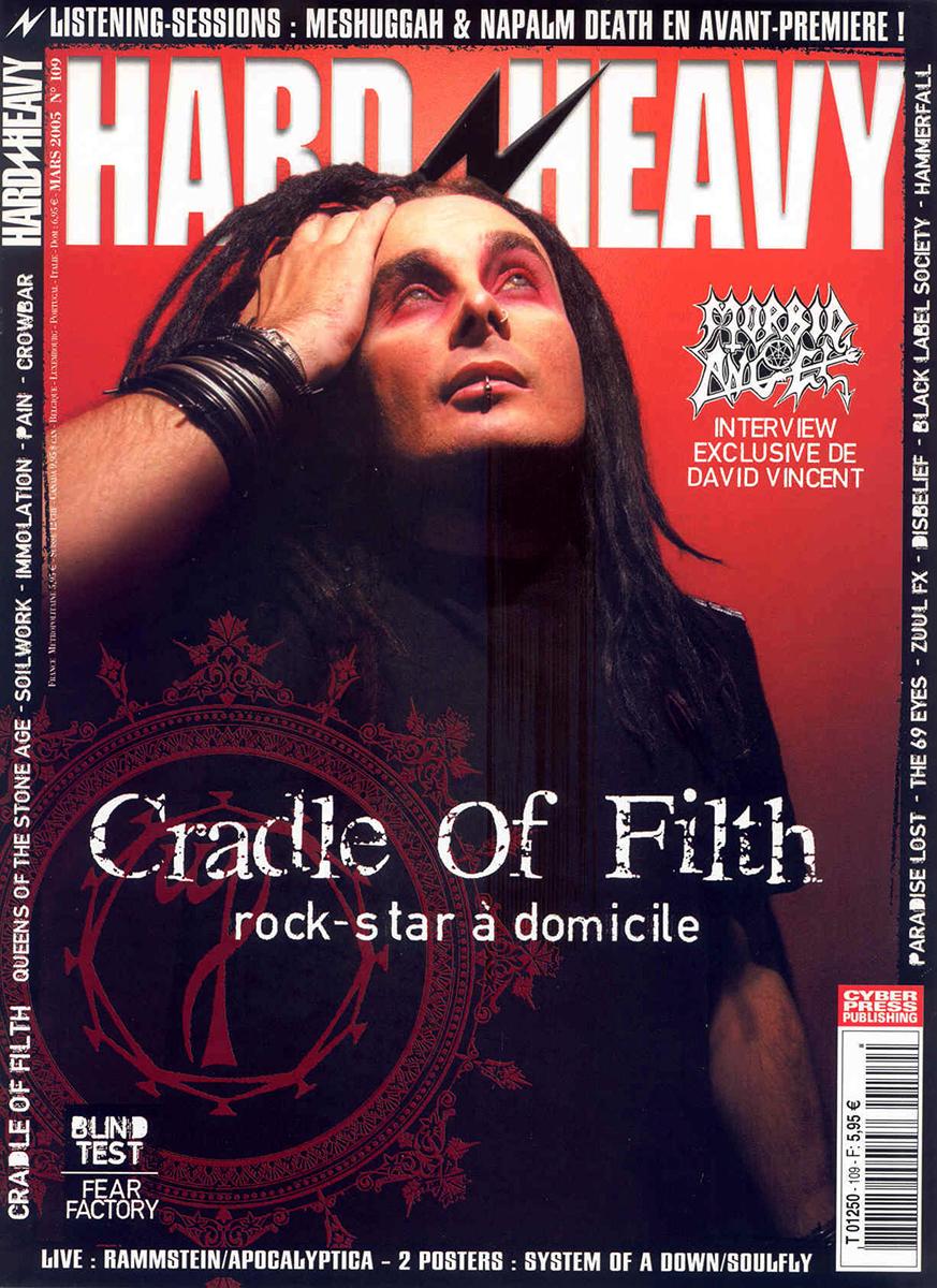 Craddle Of Filth en couverture du magazine Hard'n'Heavy