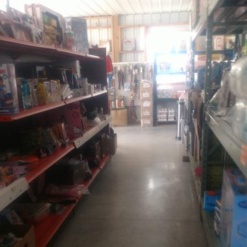 Prairie Lane salvage grocery shelves 1