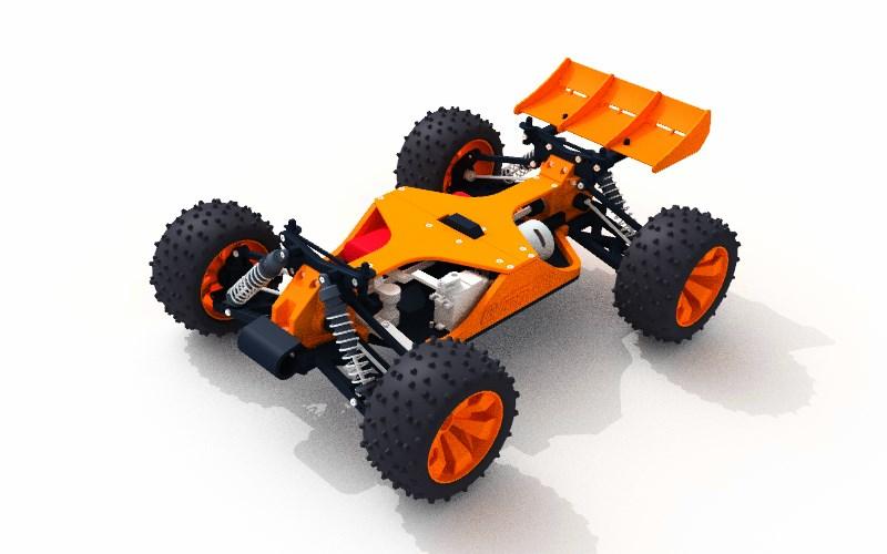 OpenRC Truggy Render Black Orange