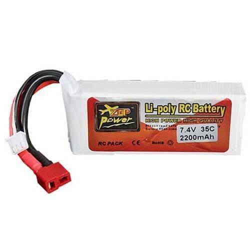 ZOP Power 7.4V 2200mAh 2S 35C Lipo Battery