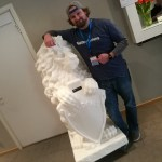 3D Printed Lion & Dave