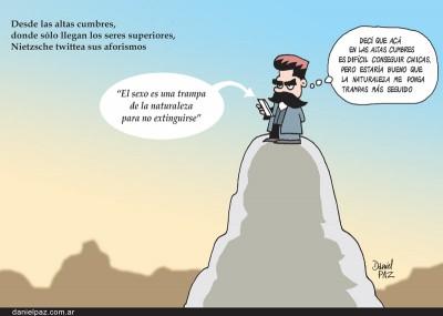 """nietzsche-twittea"" por Daniel Paz"