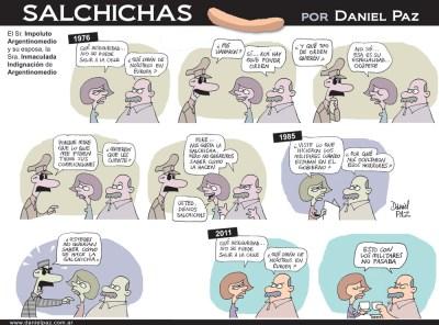 """salchichas"" por Daniel Paz"