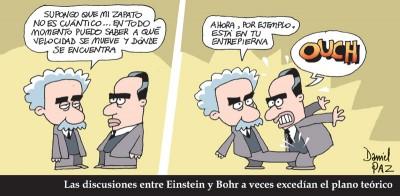 """""""einstein vs bohr"""" por Daniel Paz"""