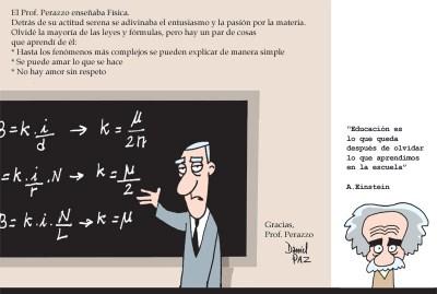 """"""" prof. perazzo"""" por Daniel Paz"""