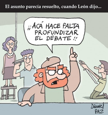 """""""profundizar el debate"""" por Daniel Paz"""