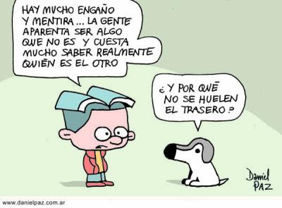 """oler traseros"" por Daniel Paz"