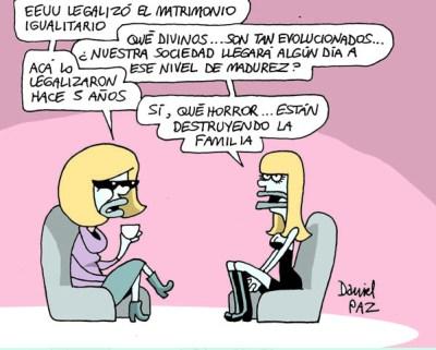 """matrimonio igualitario"" por Daniel Paz"