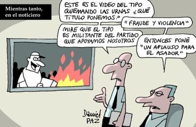 """""""urnas quemadas"""" por Daniel Paz"""