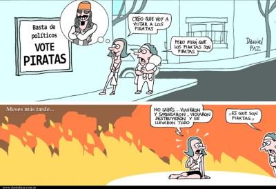 """""""piratas"""" por Daniel Paz"""