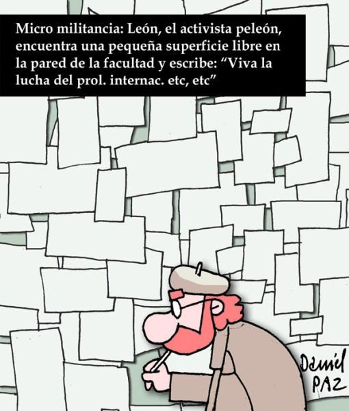 """micro-militancia"" por Daniel Paz"