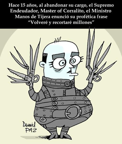 """ministro-manos-tijera"" por Daniel Paz"