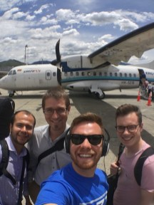 The quartet about to leave to Pereira, Colombia