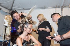 Behind the Scenes- a runway show in the making at the Art Loves Fashion, Art Basel Soiree in Miami #ArtHeartsFashion #artbasel opening night gala of @spectrummiami #artlovesfashion party presented by @planetfashiontv