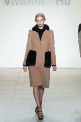 A model walks the runway for the Vivienne Hu collection during, New York Fashion Week: The Shows at Gallery 2, Skylight Clarkson Sq on February 12, 2017 in New York City.